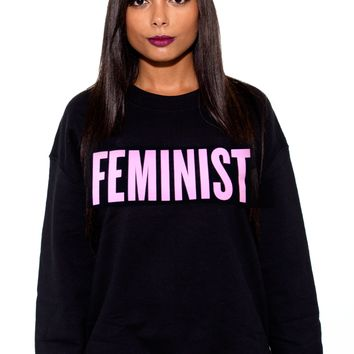 "Emma Watson did it, Beyonce did it, David Cameron did it. You can shout out your feminist pride with a ""Feminist"" tee or sweater, too."